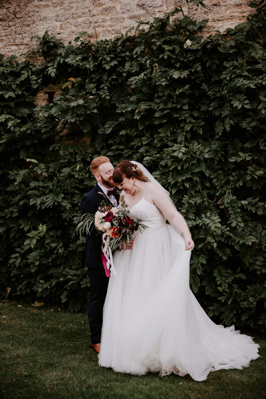 Dress Gown Bride Bridal Crochet Lace Sweetheart Wick Farm Bath Wedding Siobhan Beales Photography