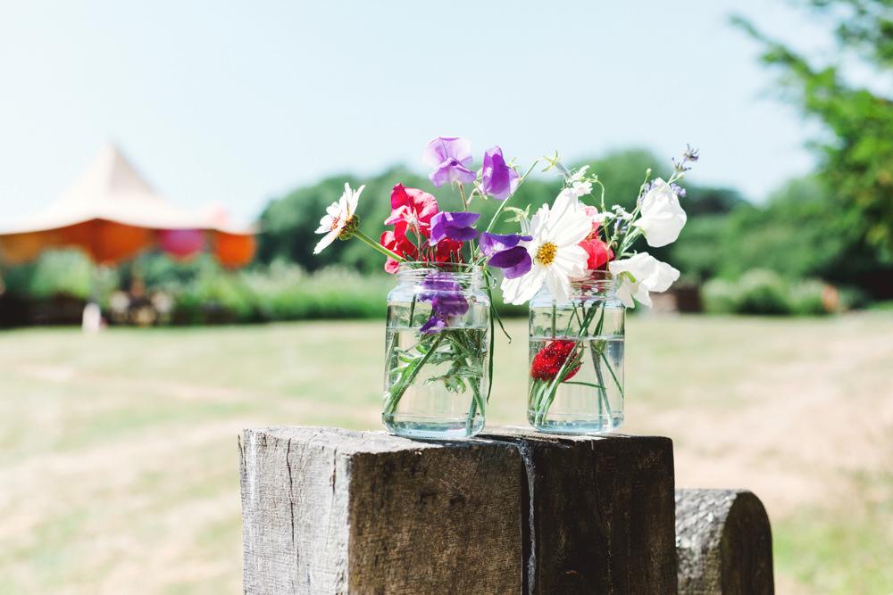 Jar Flowers Yew Tree Lakes Wedding Charlotte Hu Photography