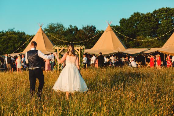 Tipi Open Side Reception Yew Tree Lakes Wedding Charlotte Hu Photography