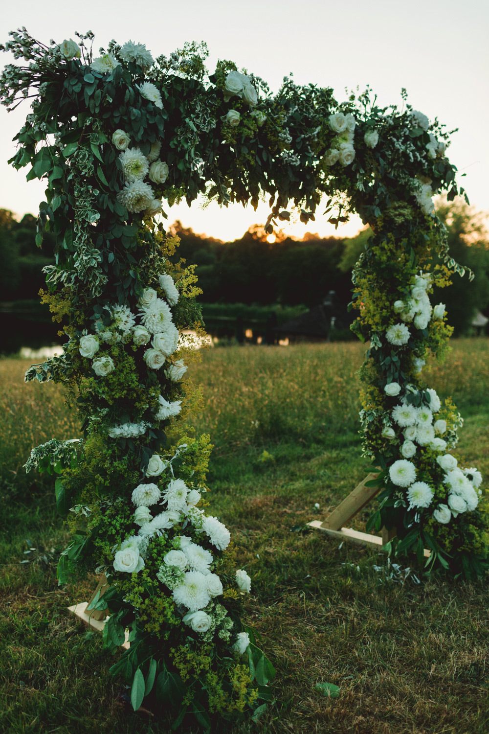 Flower Arch Backdrop Ceremony Yew Tree Lakes Wedding Charlotte Hu Photography