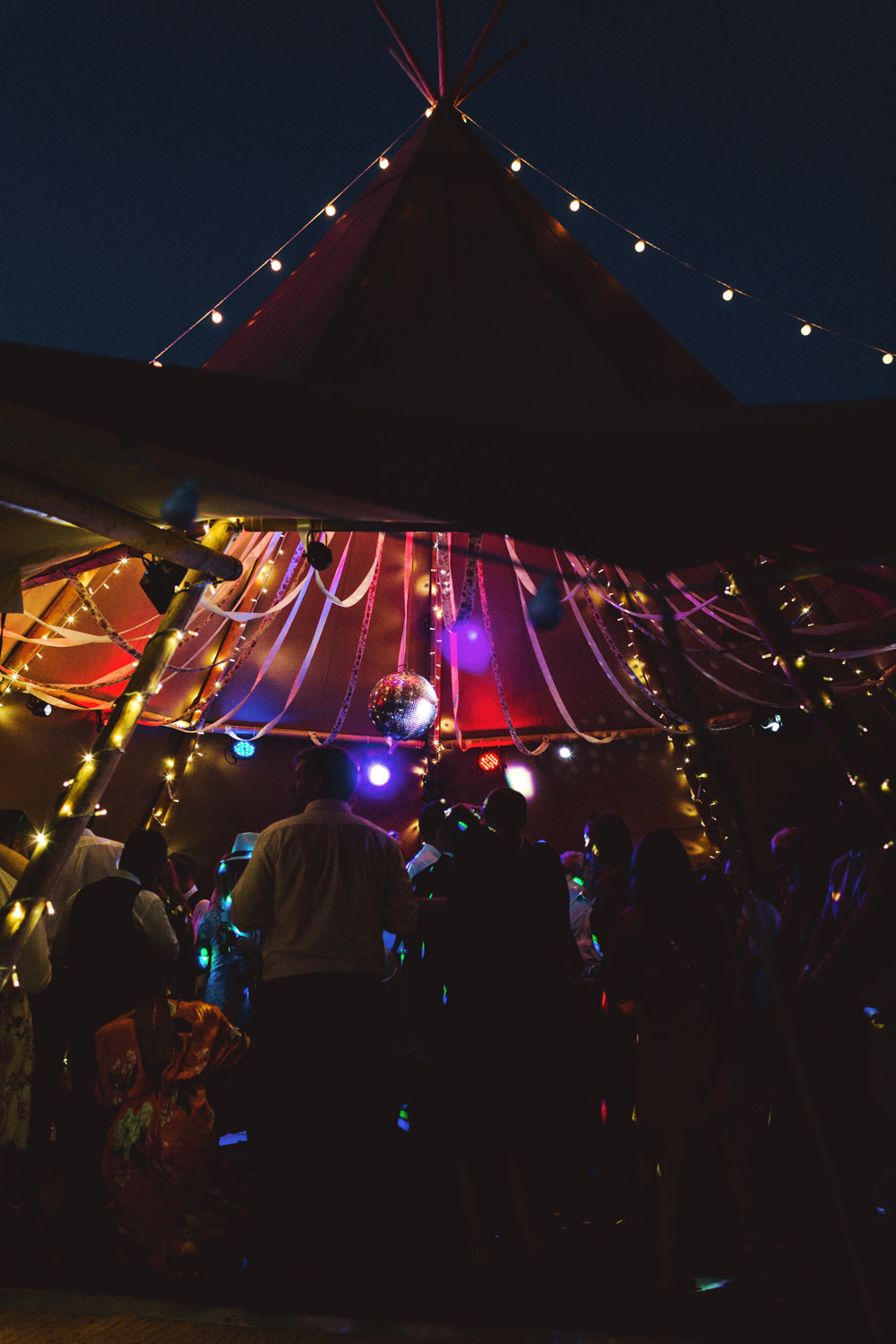 Tipi Open Side Reception Lights Lighting Yew Tree Lakes Wedding Charlotte Hu Photography