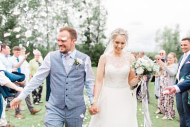 Magical & Effortless Pale Blue & Grey Barn Wedding