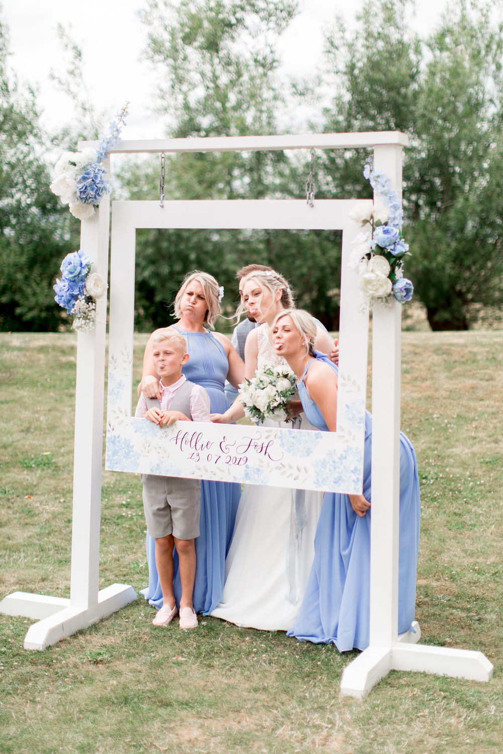 Photo Booth Backdrop Cut Out Frame Almonry Barn Wedding Kerry Bartlett Photography