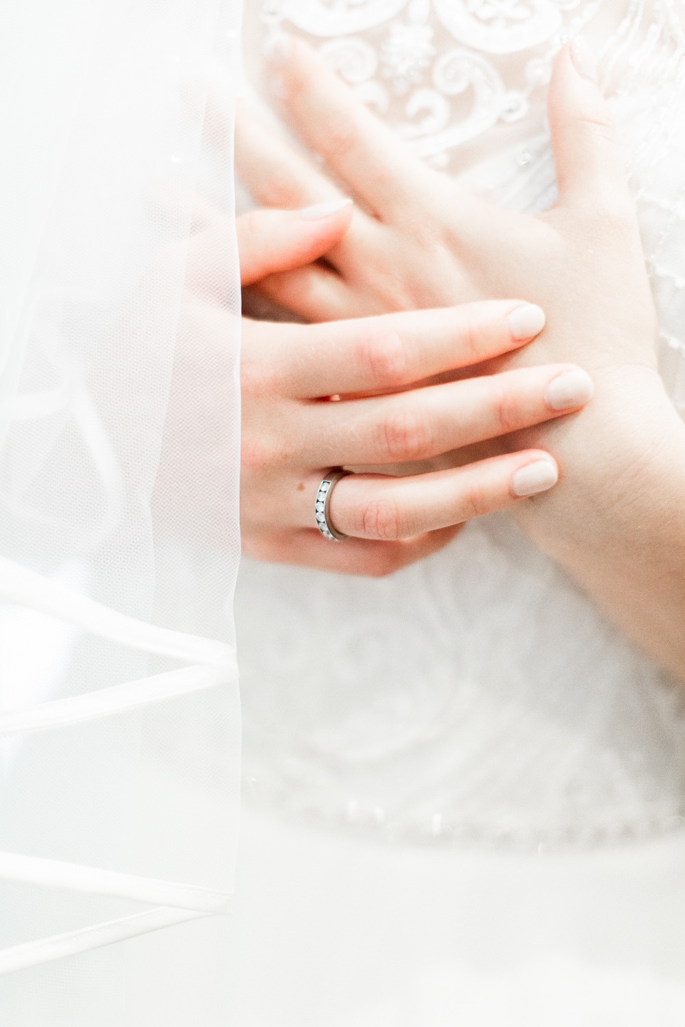 Bride Bridal Nails Manicure Almonry Barn Wedding Kerry Bartlett Photography