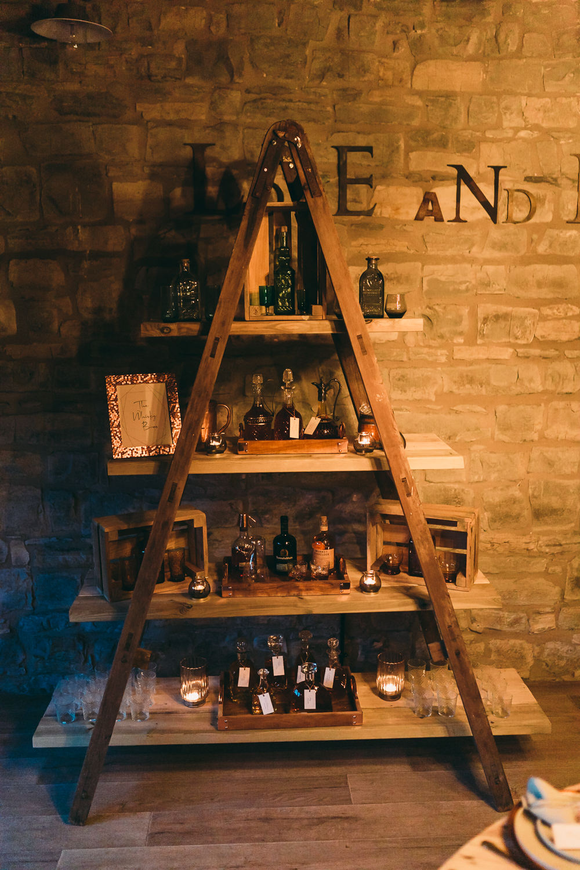 Whisky Bar Stand Station Drinks Balloon Wedding Ideas Leesha Williams Photography