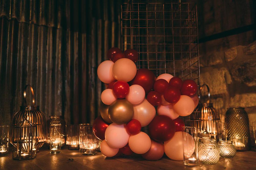Installation Balloon Wedding Ideas Leesha Williams Photography