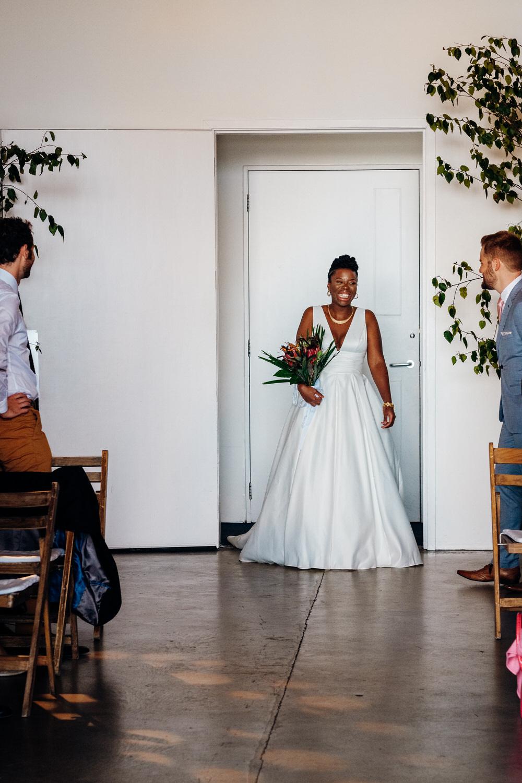 Bride Bridal Dress Gown David's Bridal Plunge A Line Chainstore Wedding Marianne Chua Photography