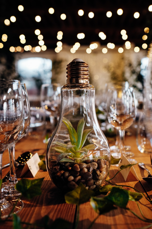 Light Bulb Terrarium Decor Centrepiece Chainstore Wedding Marianne Chua Photography