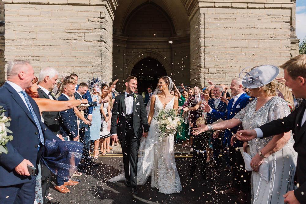 Confetti Throw Compton Verney Wedding Danielle Smith Photography
