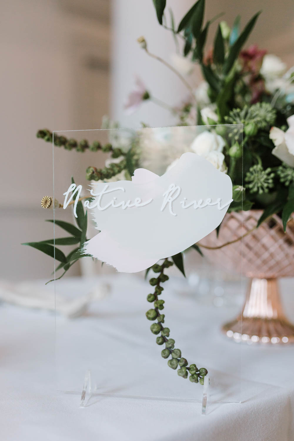 Table Name Sign Signs Signage Painted Perspex Acrylic Compton Verney Wedding Danielle Smith Photography