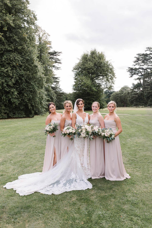 Bridesmaids Bridesmaid Dress Dresses Blush Long Compton Verney Wedding Danielle Smith Photography