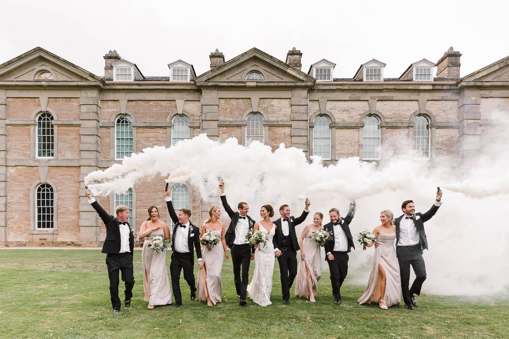 Compton Verney Wedding Danielle Smith Photography Smoke Bomb Portrait Photos Photographs