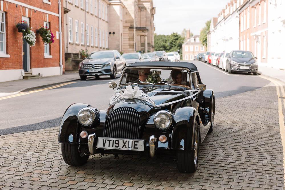 Classic Car Transport Compton Verney Wedding Danielle Smith Photography
