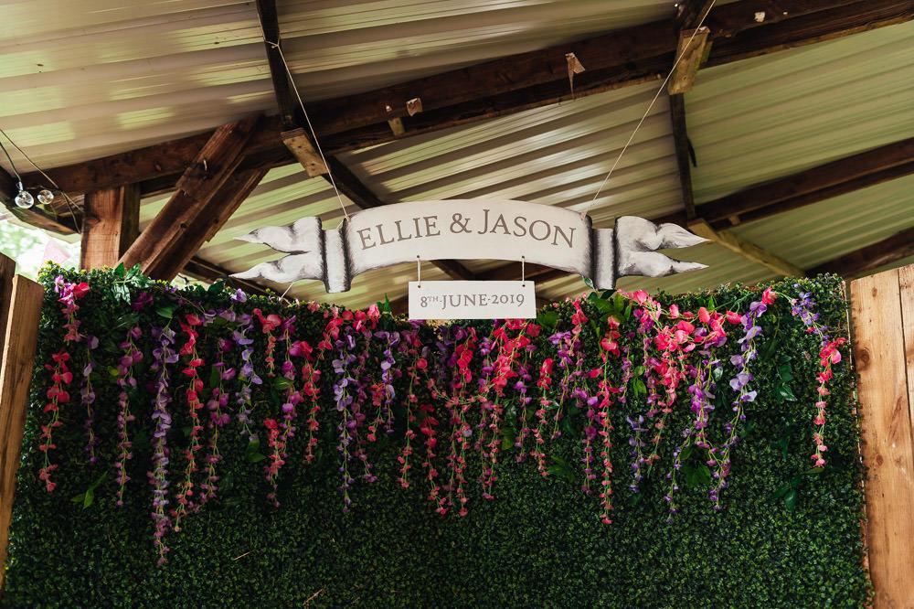 Photobooth Backdrop DIY Barn Wedding Jessica Grace Photography