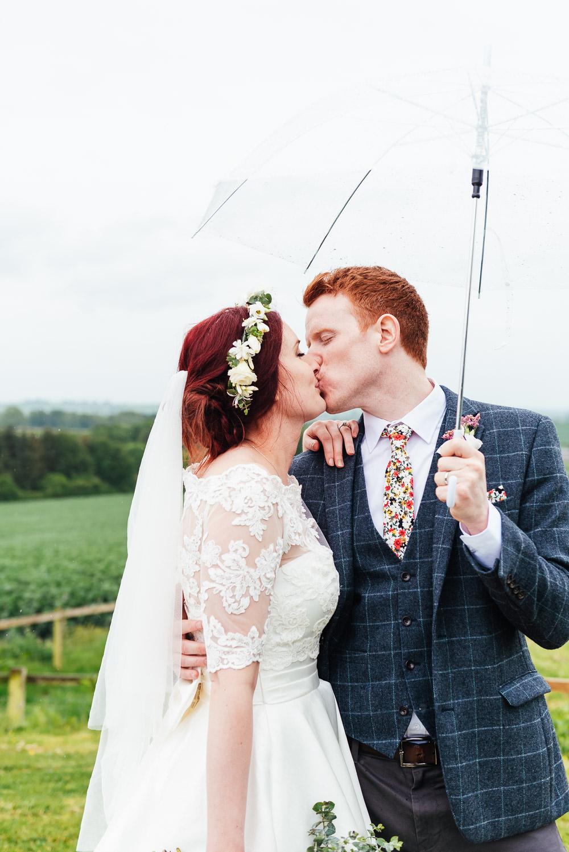 Rainy Umbrella DIY Barn Wedding Jessica Grace Photography