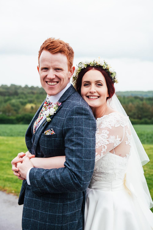 DIY Barn Wedding Jessica Grace Photography Bride Bridal Flower Crown