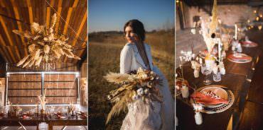 Dried Flower Wedding Ideas Dan Lambourne Photography