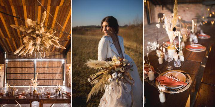 Dried Flower Wedding Ideas with Terracotta Tones & Pampas Grass | Whimsical Wonderland Weddings