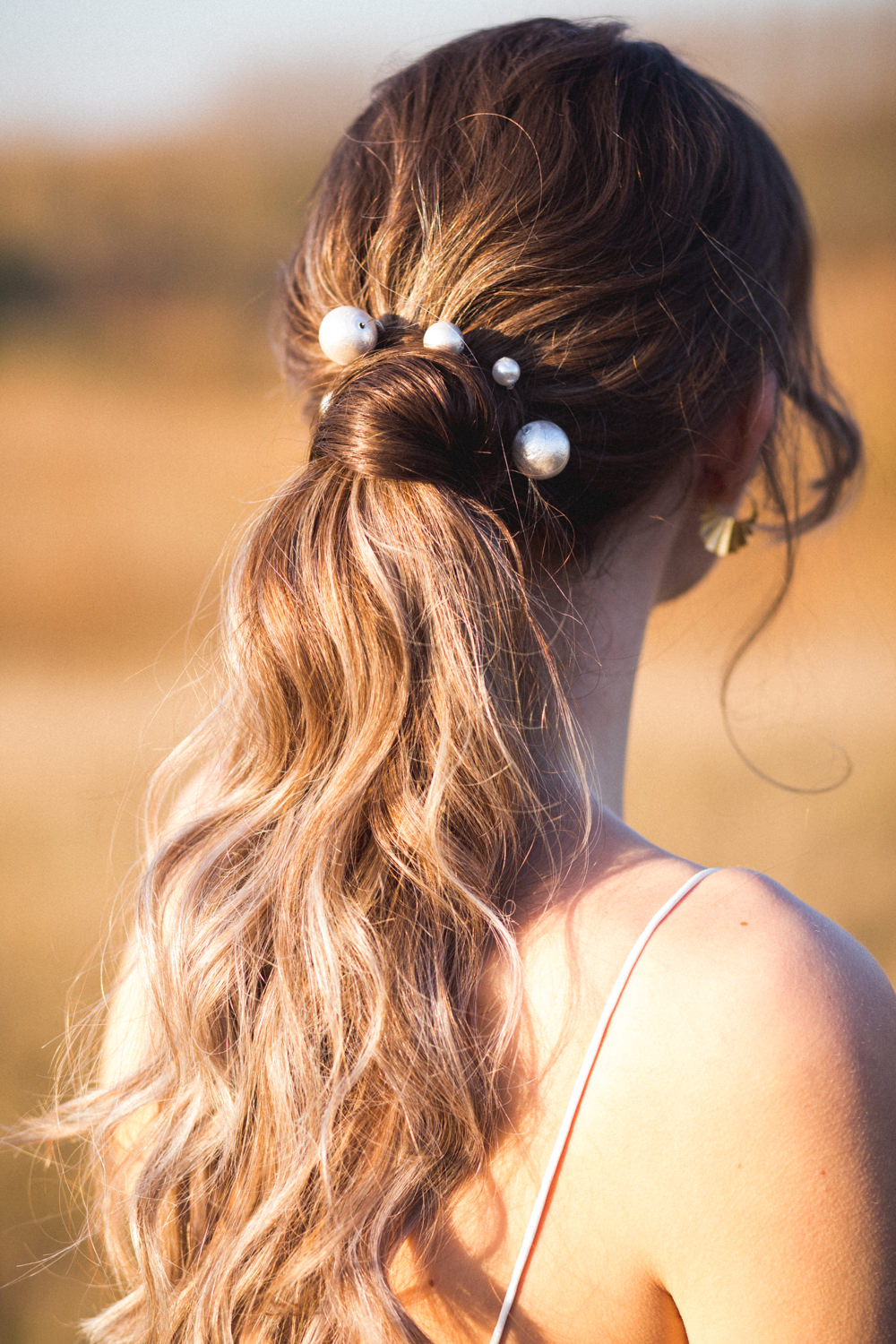 Bride Bridal Hair Style Up Do Pearls Ponytail Dried Flower Wedding Ideas Dan Lambourne Photography