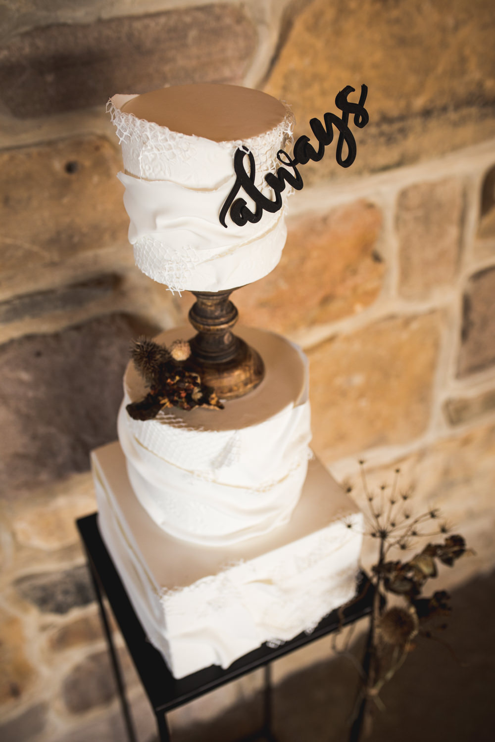 Buttercream Cake Always Topper Dried Flower Wedding Ideas Dan Lambourne Photography