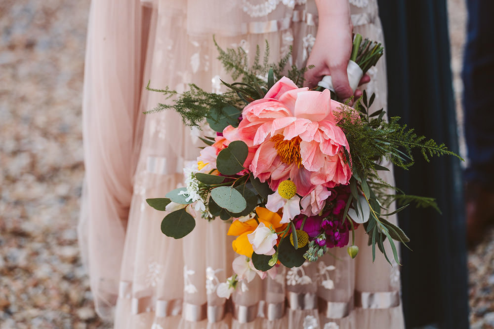 Bouquet Flowers Bride Bridal Peony Greenery Glynde Place Wedding Sarah London Photography