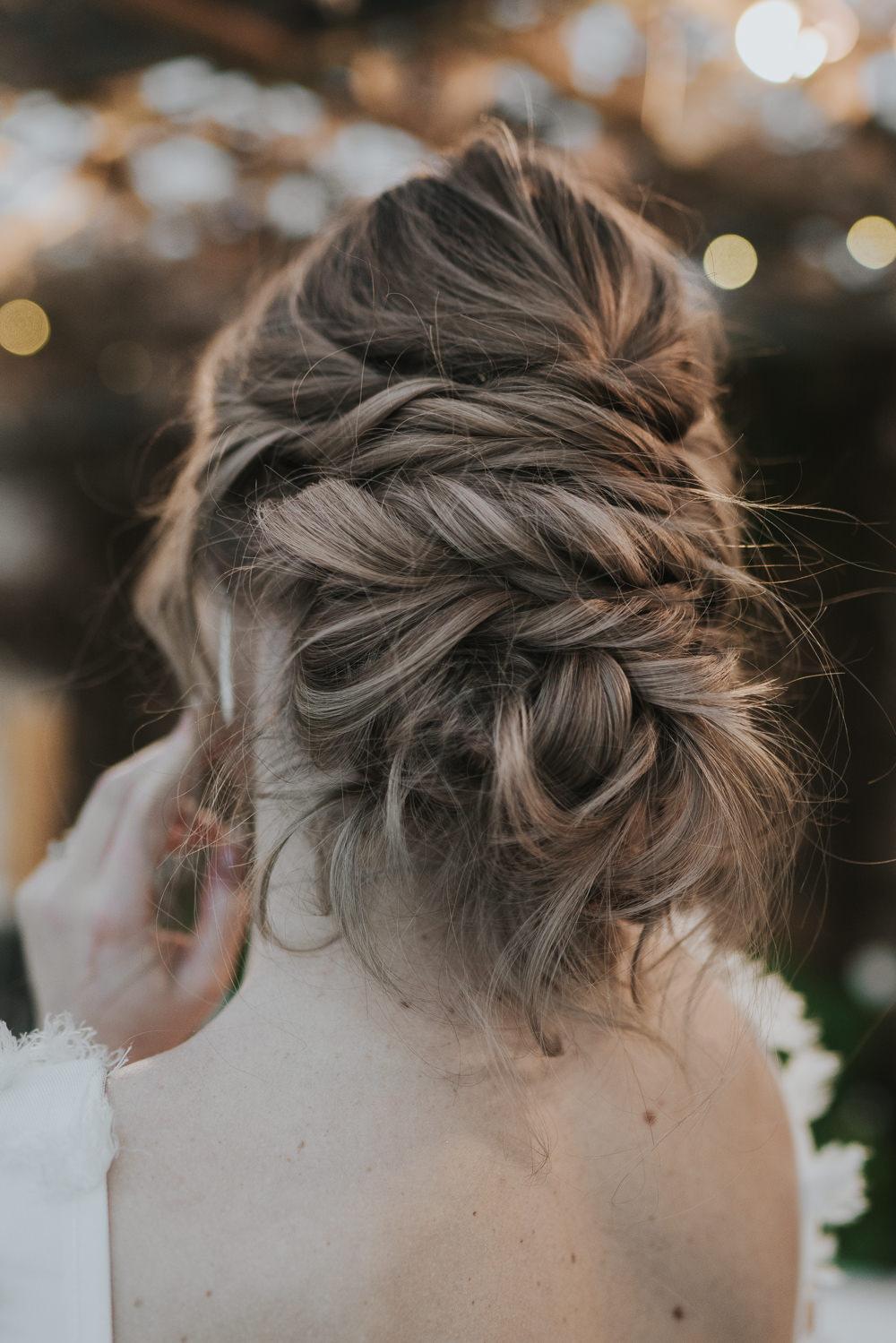 Bride Bridal Hair Style Up Do Plait Braid Grey Wedding Ideas Grace Elizabeth