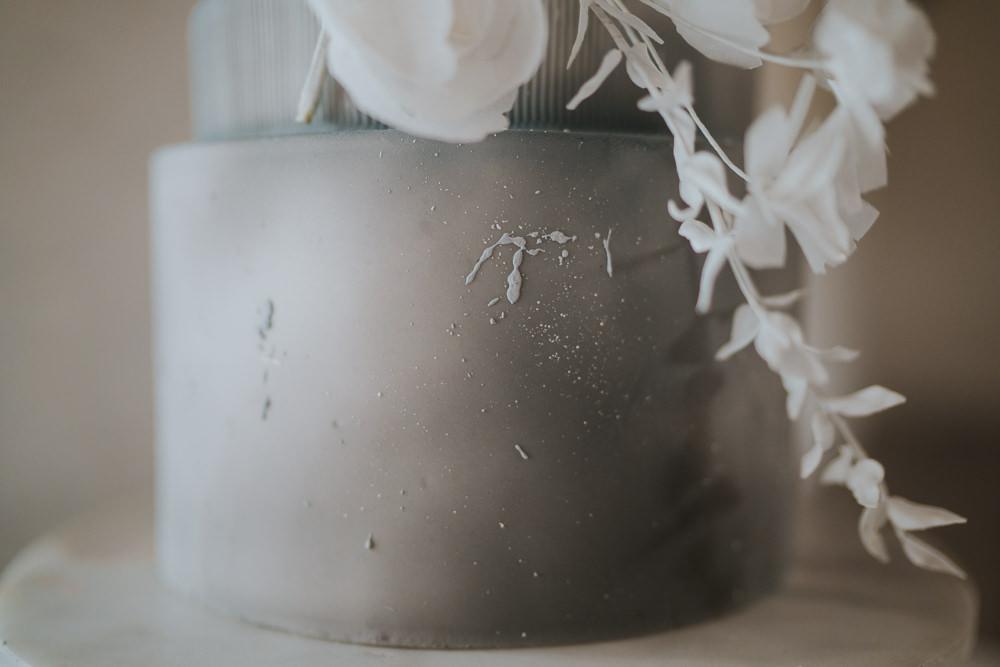 Tall Cake Flowers Cloud Grey Wedding Ideas Grace Elizabeth