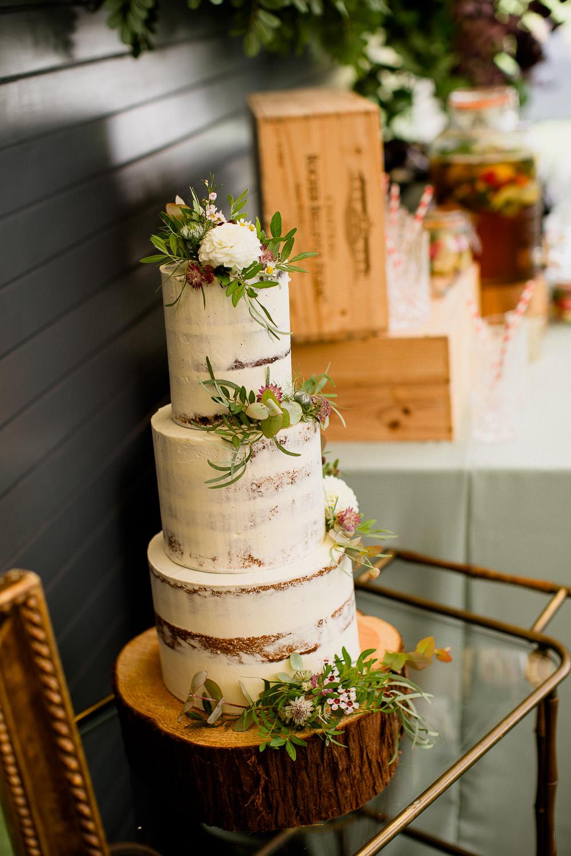 Buttercream Cake Flowers Semi Naked Holford Estate Wedding Voyteck Photography