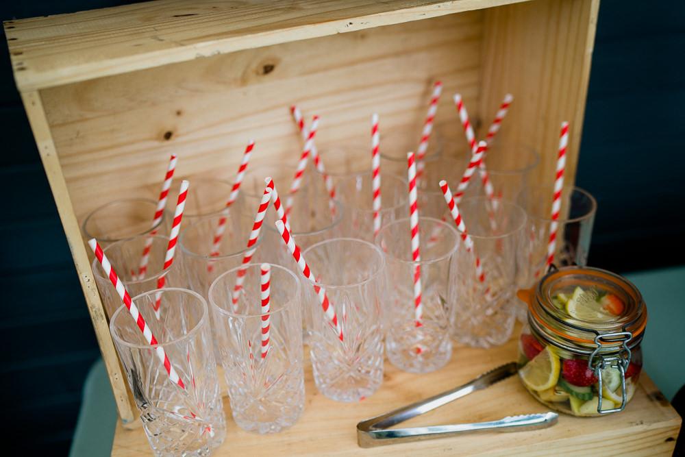 Stripy Straws Drinks Bar Holford Estate Wedding Voyteck Photography