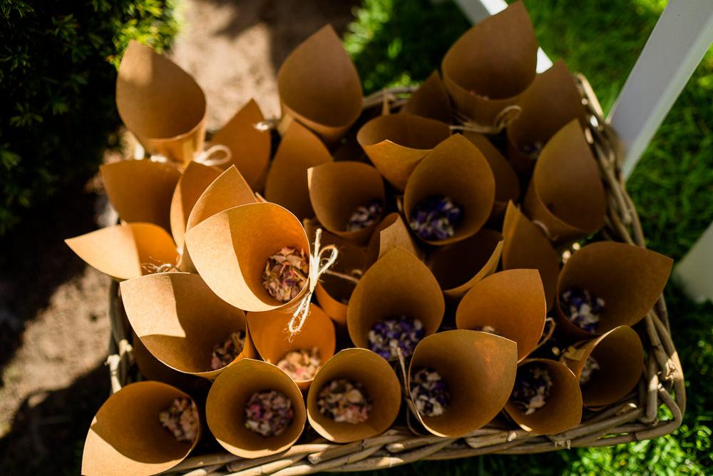 Petal Confetti Cones Holford Estate Wedding Voyteck Photography
