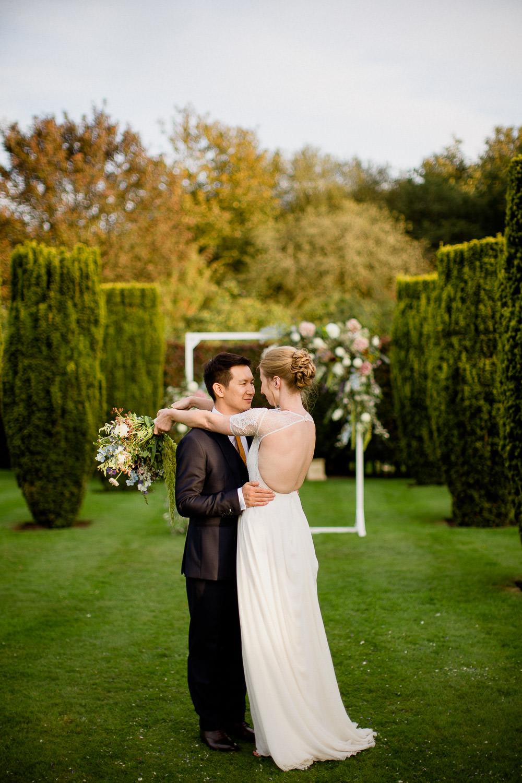 Flower Arch Floral Backrop Holford Estate Wedding Voyteck Photography