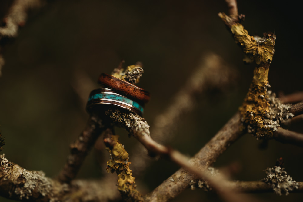 Wooden Rings Bands LGBTQ+ Elopement Thyme Lane Photography