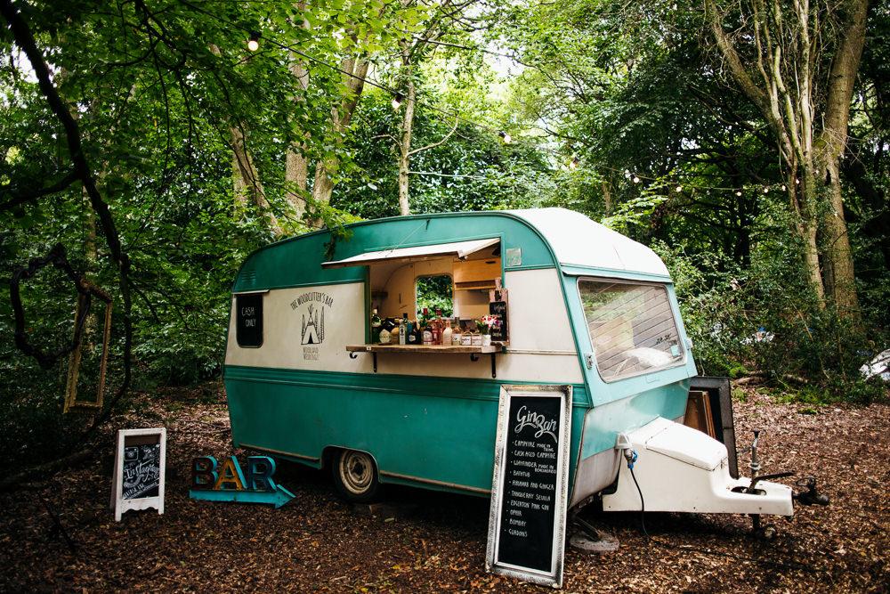 Food Truck Caravan Bar Lila's Wood Wedding Two-D Photography
