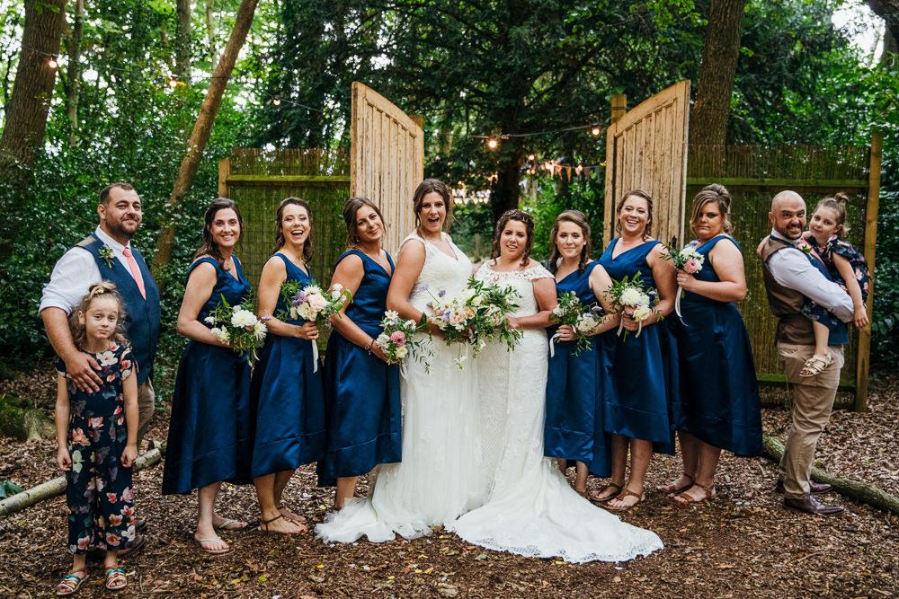 Bridesmaids Bridesmaid Dress Dresses Blue Lila's Wood Wedding Two-D Photography