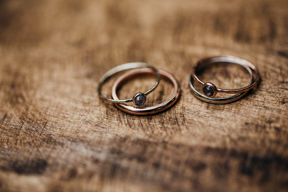 Rings Bands Lila's Wood Wedding Two-D Photography