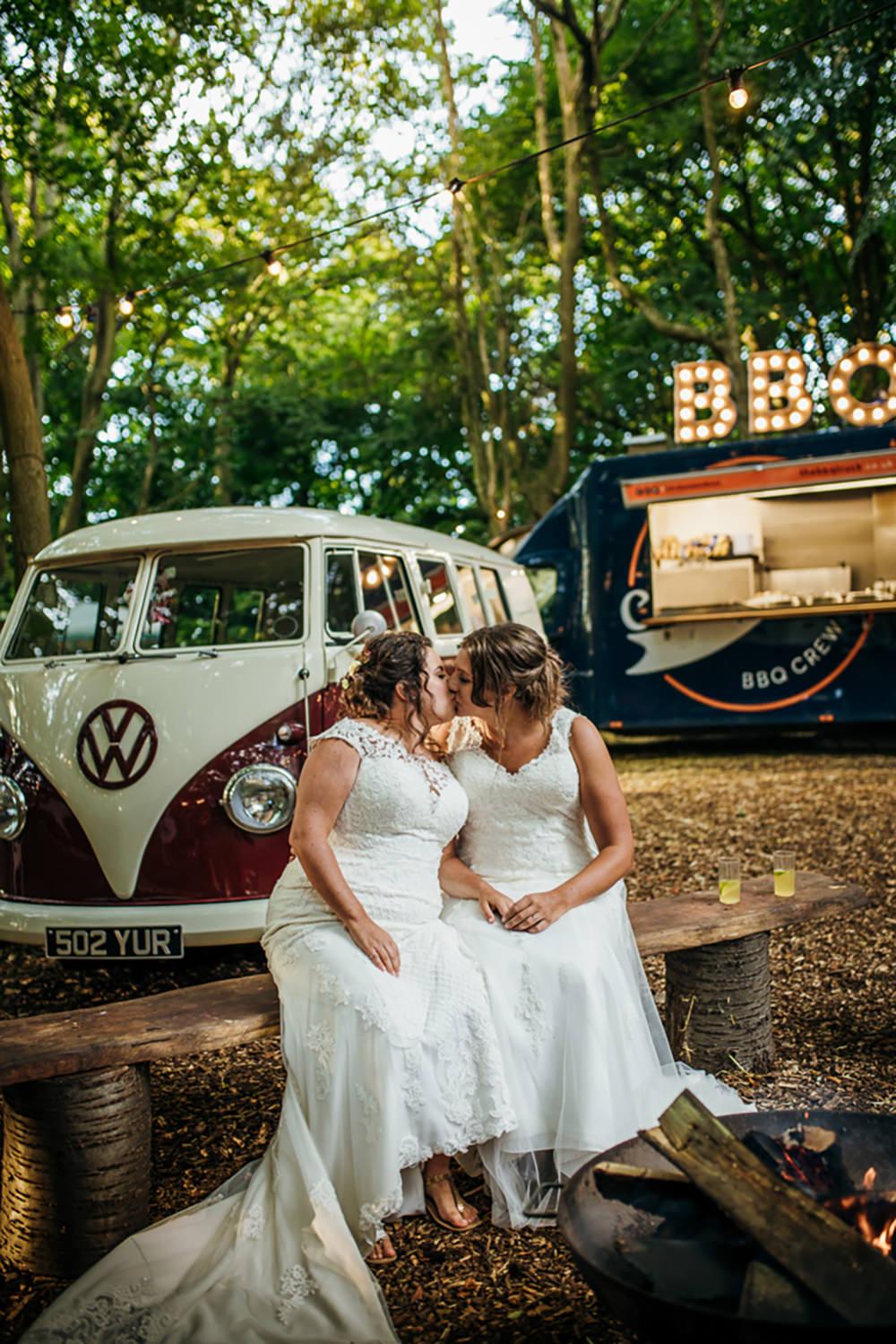 Lila's Wood Wedding Two-D Photography BBQ Food Truck Van