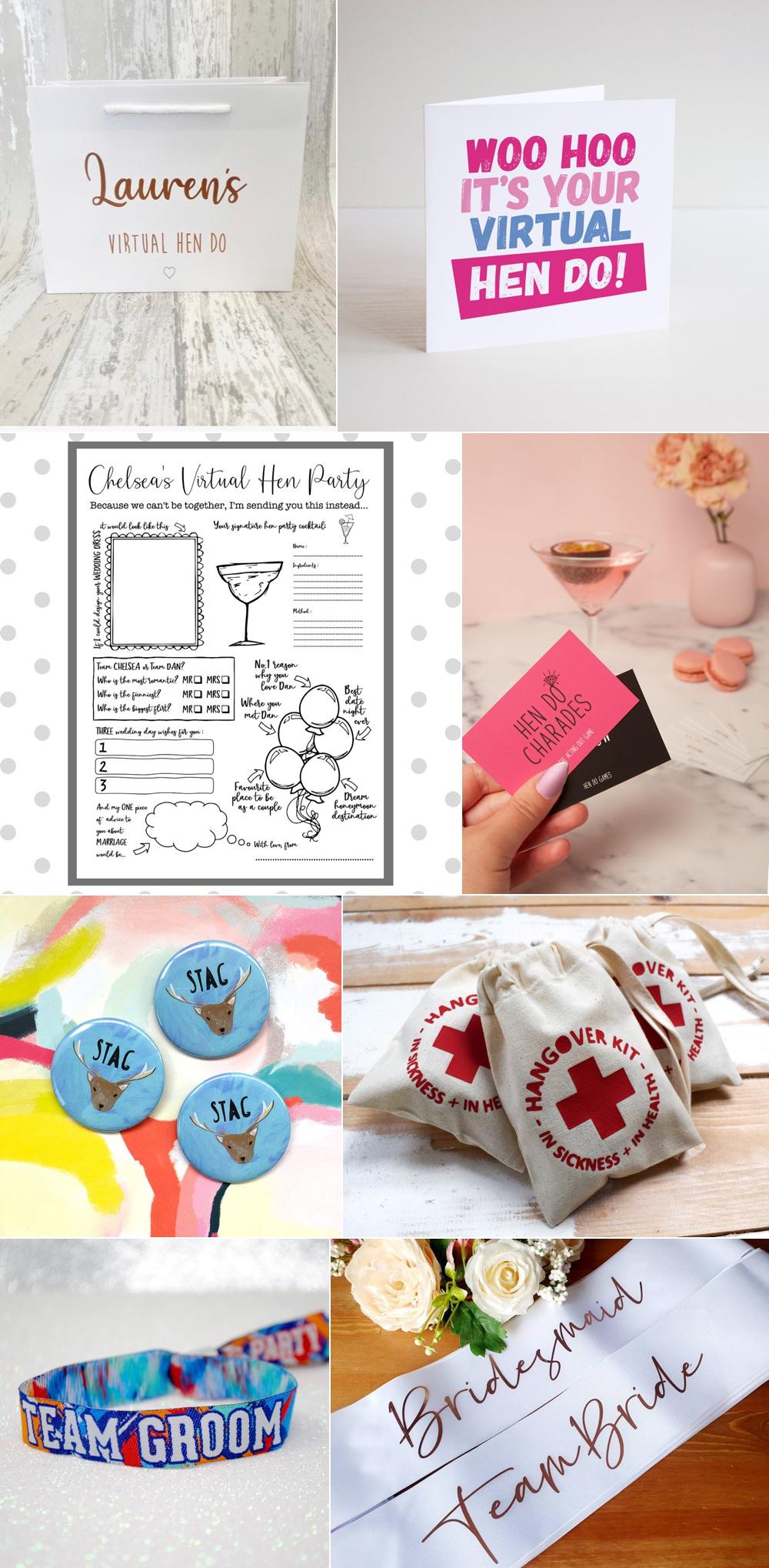 Lockdown Wedding Gift Ideas Hen Stag