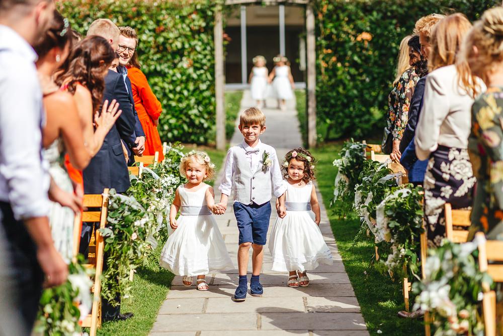 Flower Girl Page Boy Millbridge Court Wedding Kirsty Mackenzie Photography