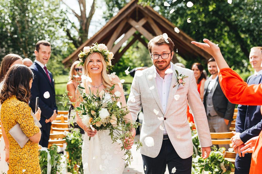 Confetti Throw Millbridge Court Wedding Kirsty Mackenzie Photography