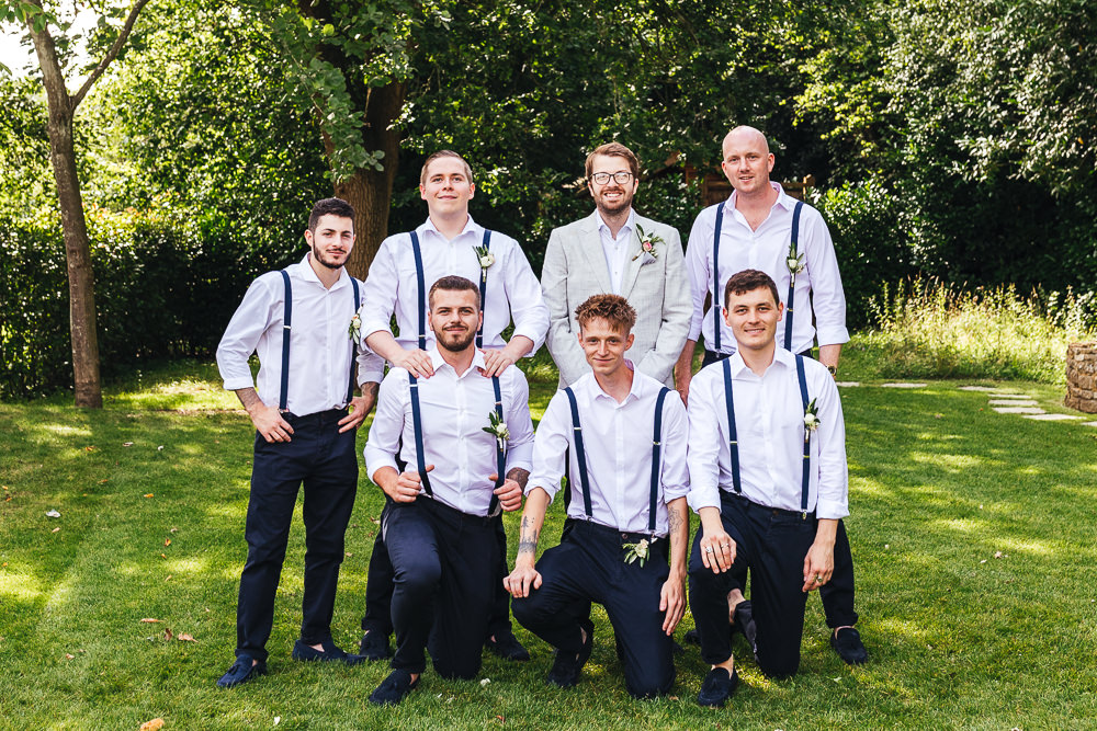 Groomsmen Braces Chinos Millbridge Court Wedding Kirsty Mackenzie Photography