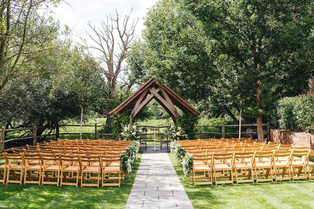 Outdoor Ceremony Millbridge Court Wedding Kirsty Mackenzie Photography