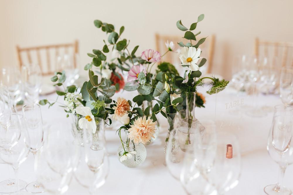 Centrepiece Flowers Vase Natural Pretty Millbridge Court Wedding Kirsty Mackenzie Photography