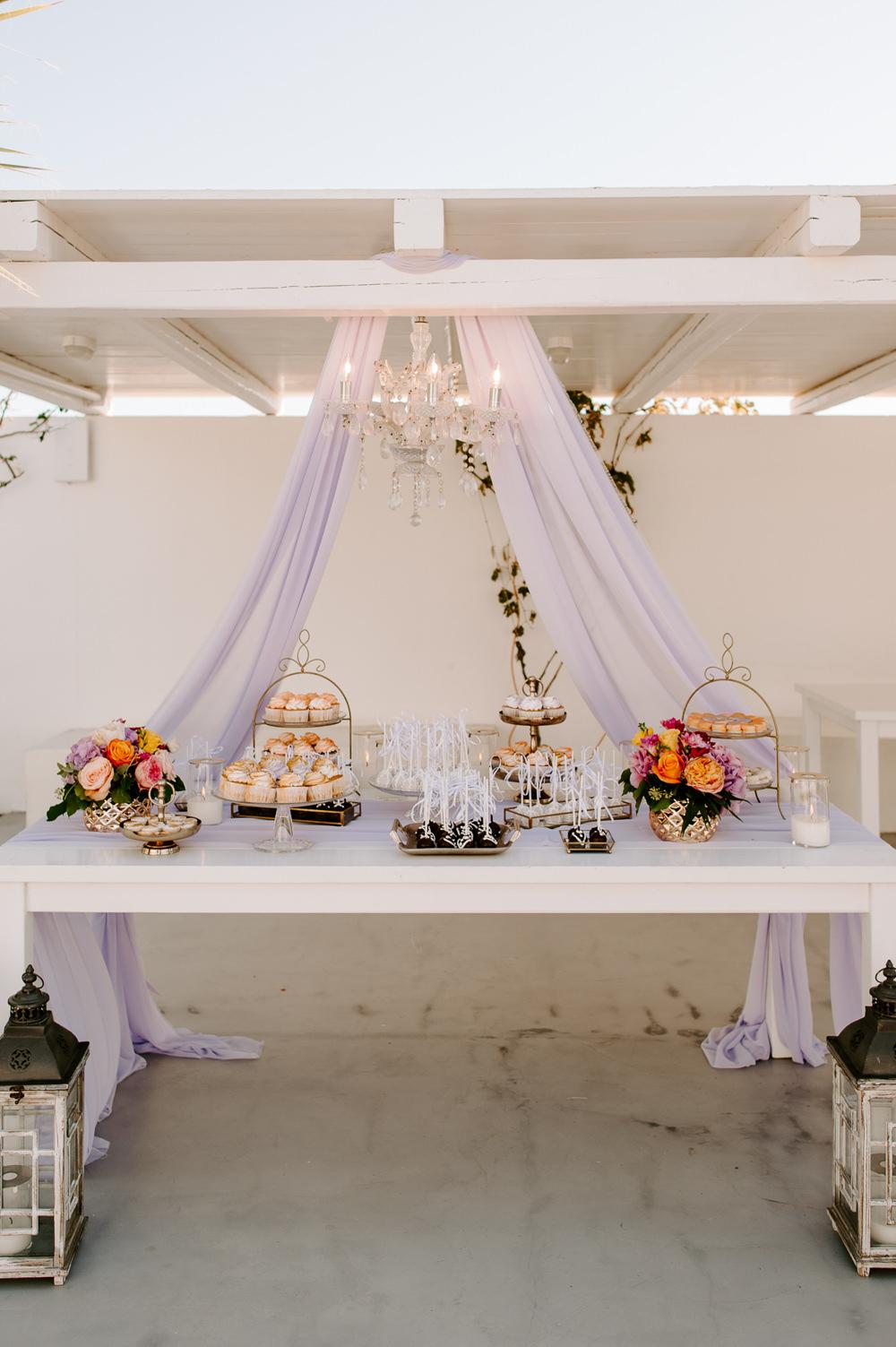 Cake Dessert Table Santorini Wedding Phosart Photography