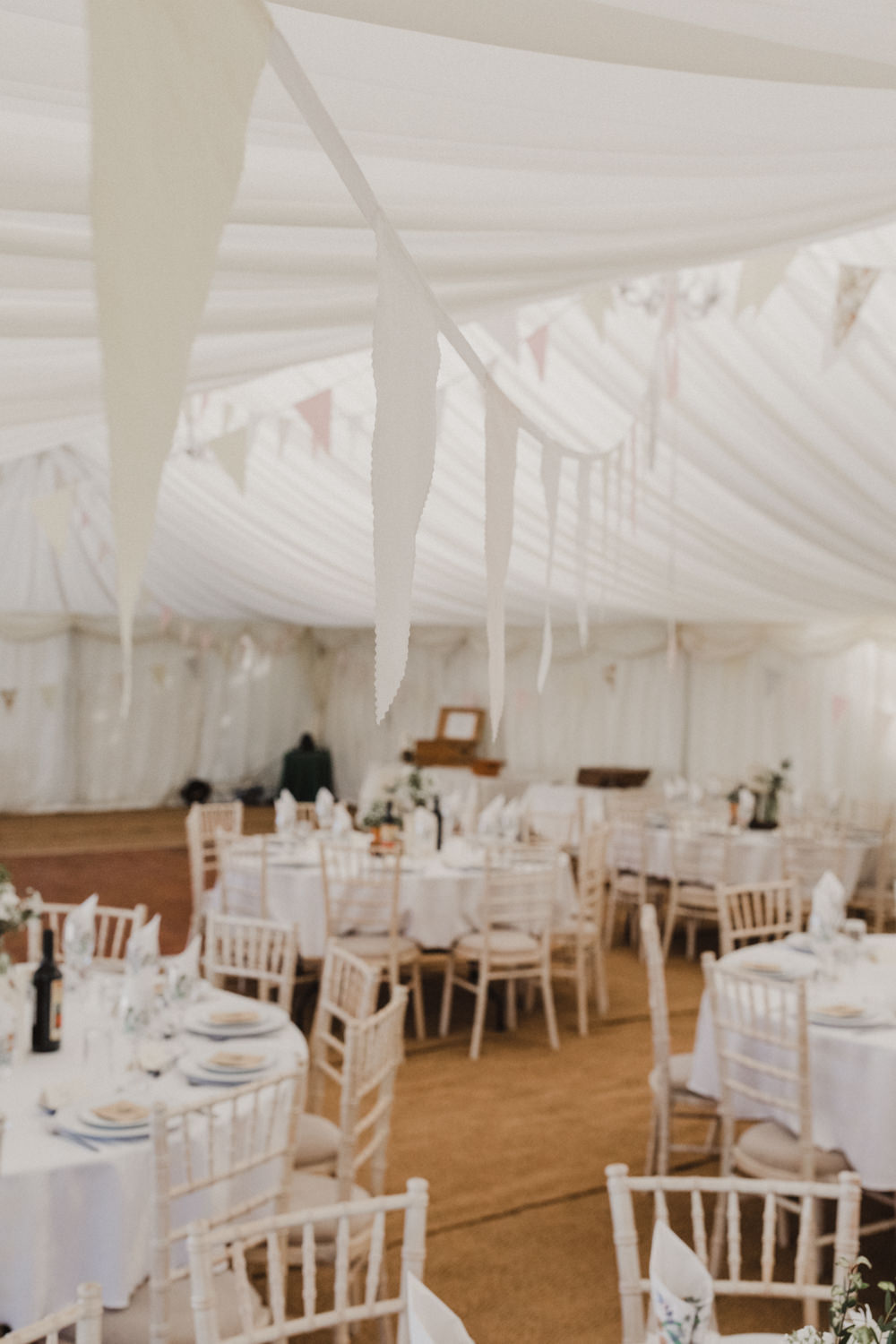 Marquee Bunting Seaside Wedding Oli and Steph Photography