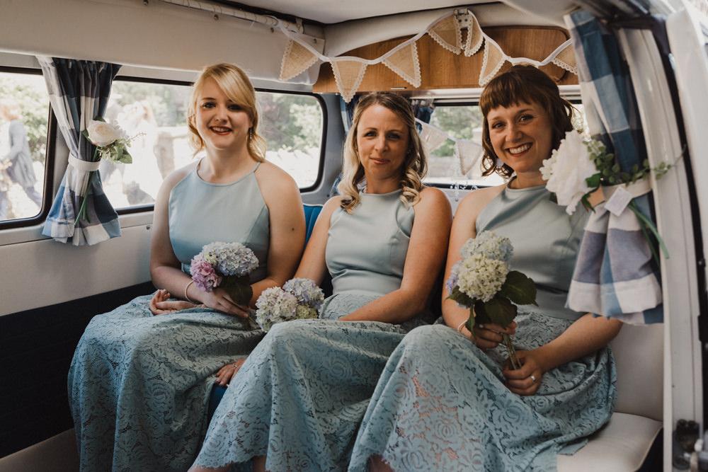 Bridesmaids Bridesmaid Dress Dresses Midi Green Lace Seaside Wedding Oli and Steph Photography