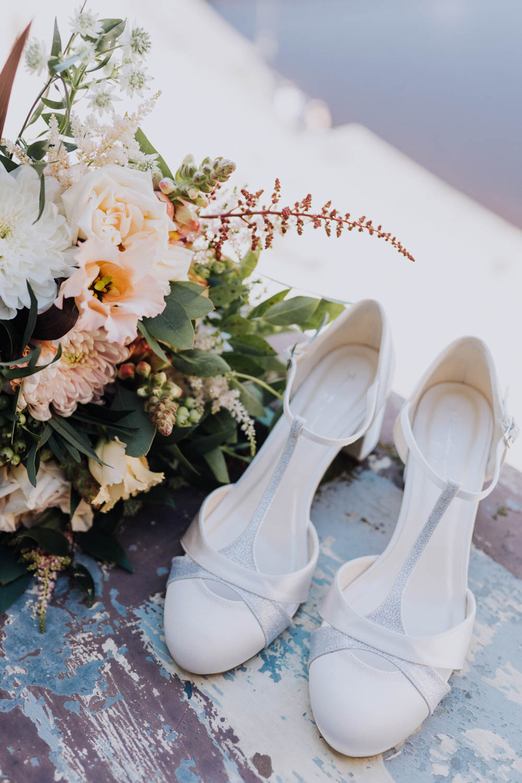 Bride Bridal Shoes Sweden Destination Wedding Clara Cooper Photography