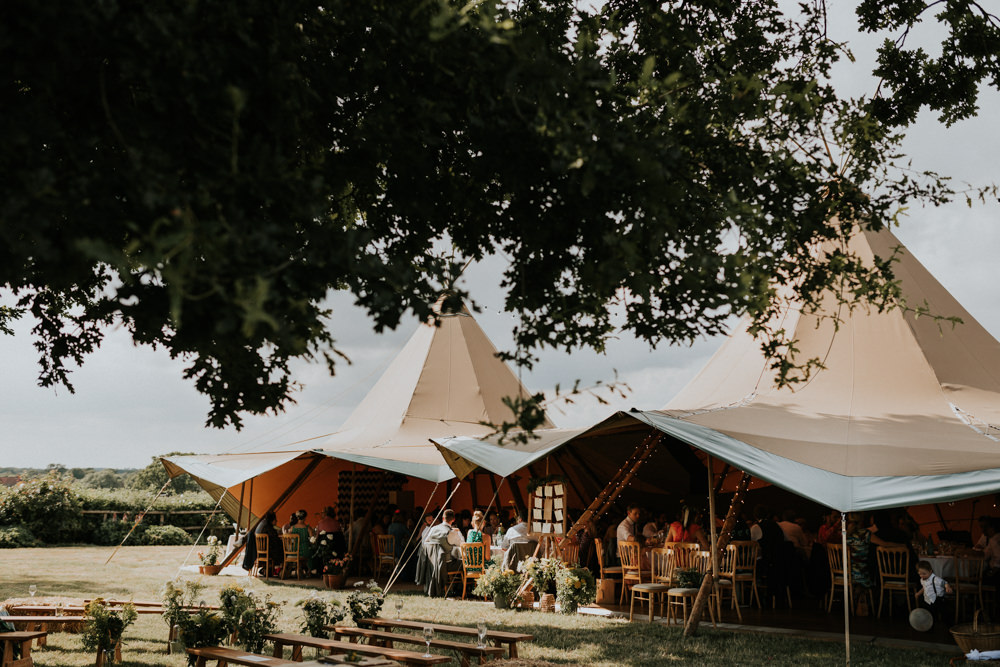 Tipi Reception Wootton Farm Estate Wedding Kate Gray Photography