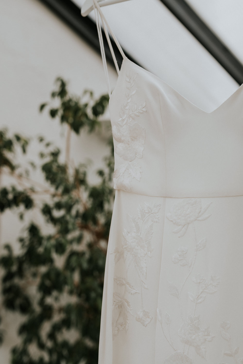 Hermione de Paula Dress Gown Bride Bridal Embroidery Personalised Wootton Farm Estate Wedding Kate Gray Photography