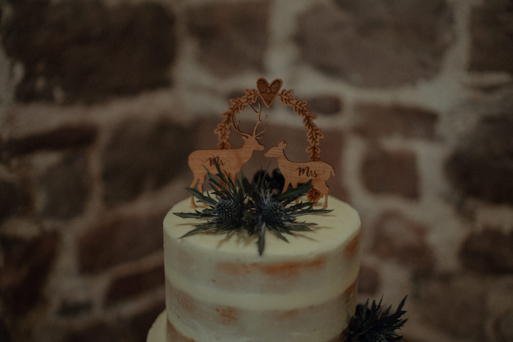 Semi Naked Cake Greenery Foliage Wooden Topper Ashes Barns Wedding Belle Art Photography