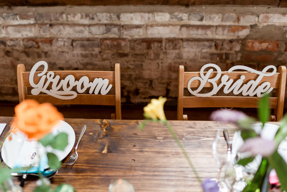 Bride Groom Chair Sign Bonhams Barn Wedding Will Patrick Photography